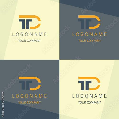 T D Business Symbol Logo Stock Image And Royalty Free Vector Files