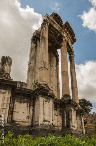 """The Roman Forum is a plaza surrounded by many ruins of ..."