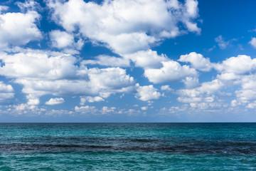 Только море, только небо.