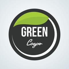 Leaf plant circle logo icon vector