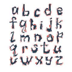 alphabet.  vector set of latin letters