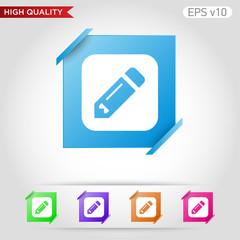 Pencil or edit icon. Button with pencil icon. Modern UI vector.