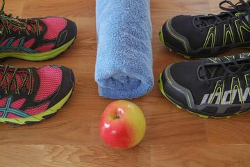 Sportschuhe und Ernährung