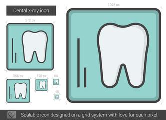 Dental x-ray line icon.