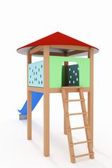 Children's playground, 3d-Illustration