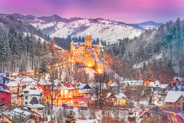 Wall Mural - Medieval Dracula Castle, fortress in Bran, Brasov, Transylvania