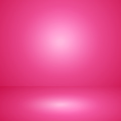 Vector of pink empty studio room background, template mock up fo
