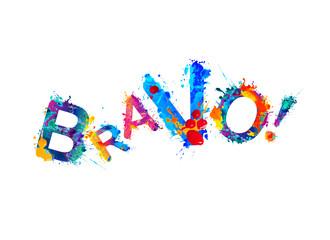 Bravo! Splash paint word