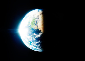 Photo realistic 3d rendering of Earth.