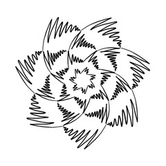Mandala Black and White