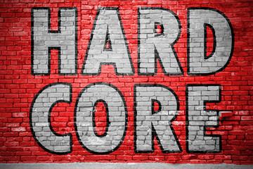 Hardcore Ziegelsteinmauer Graffiti