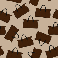 bags on a light brown background