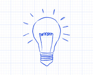Light Bulb Graph Paper