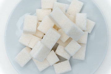 cubes of sugar in a plate