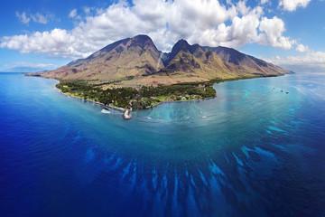 Drone Aerial Panoramic - Island of Maui, Hawaii