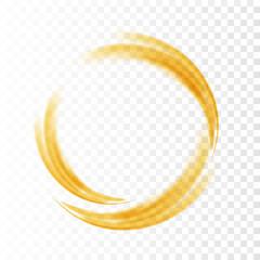 Abstract swirl energy circle