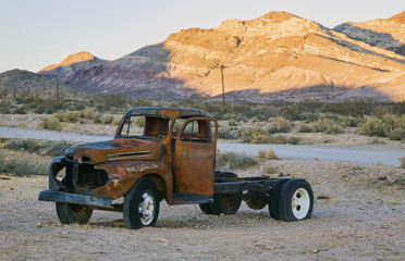 Old abandoned rusted truck