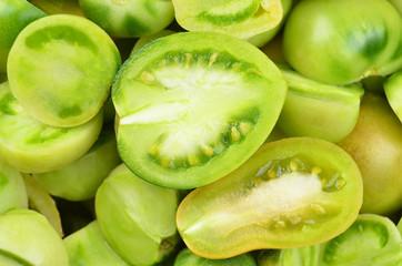 Slised tomato, close up