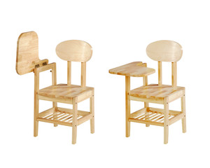Lecture chairs isolated on white background with clipping path.