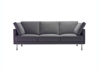 A modern sofa isolated with clipping path.