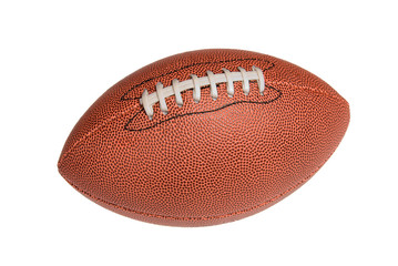 Isolated leather football
