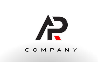 AP Logo.  Letter Design Vector.
