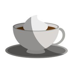Coffee mug icon over white background. vector illustration