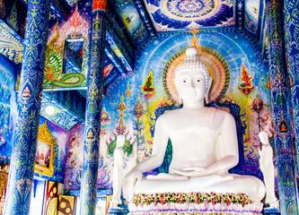 buddha statue wat  rongsaiyten chiangrai Thailand