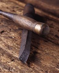 Outils du bois / Bédane / Charpentier