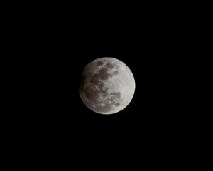 Penumbral — Full Moon, Lunar Eclipse and Pale Green Comet S
