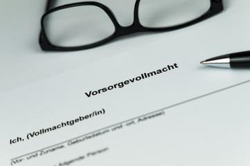 Vorsorgevollmacht - Advance healthcare directive