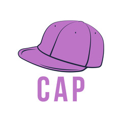 Icon cap. Vector isolated image of the headdress.