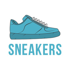 Icon sneakers. Vector isolated image of the shoe.
