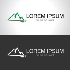 mountain abstract nature logo