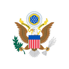 US Coat of Arms. Vector emblem of the United States.