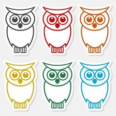 Owl line icon - Illustration