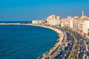 Printed roller blinds Egypt View of Alexandria harbor, Egypt