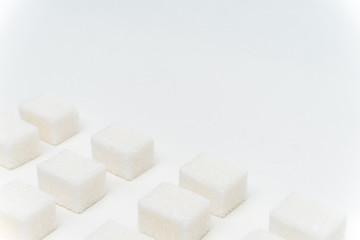 sugar cubes on a light table