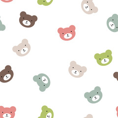 fun seamless pattern texture design bears for child themes vector image