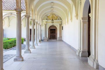 GRANADA, SPAIN - MAY 31, 2015: The atrium of church Monasterio de la Cartuja.