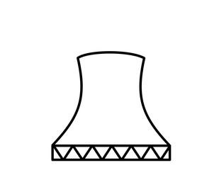 原子力発電所(線画)