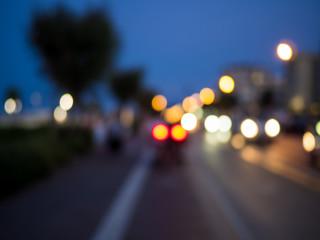 blur bokeh from traffic light