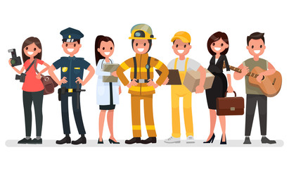 People of different professions. Labor Day. Vector illustration