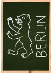 Berliner Bär - Wahrzeichen von Berlin - Deutschland Hauptstadt - Kreidezeichnung Zeichnung handgemalt Kohle Kreidezeichnung doodle Krizelei Handdrawing
