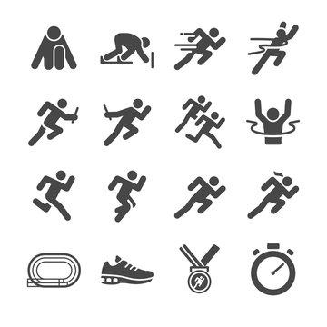running man icon set