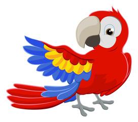 Cartoon Parrot Character