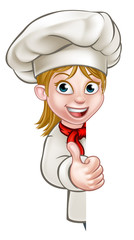 Chef Woman Cartoon Cook