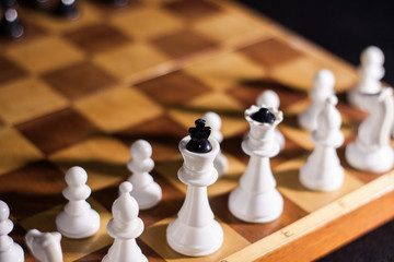 wooden chess