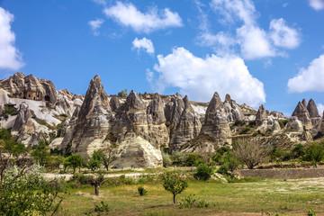 Rock landscape. Cappadocia, Turkey. Goreme national park.