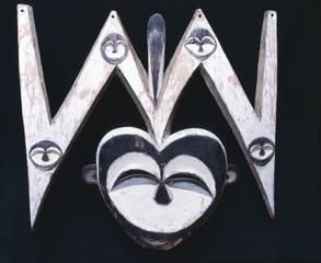 Masque Kwele / Moyen Congo